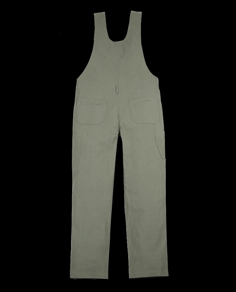 Salopette gris-kaki